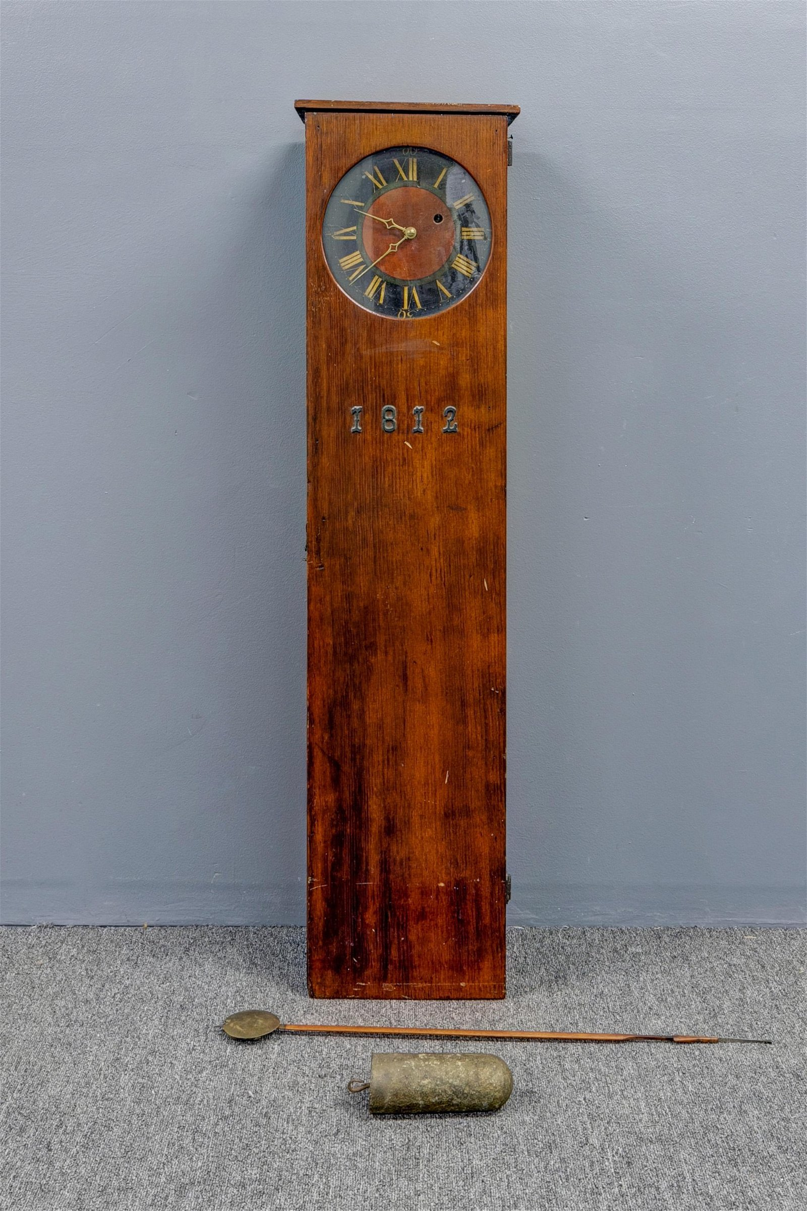 Pine Coffin Clock