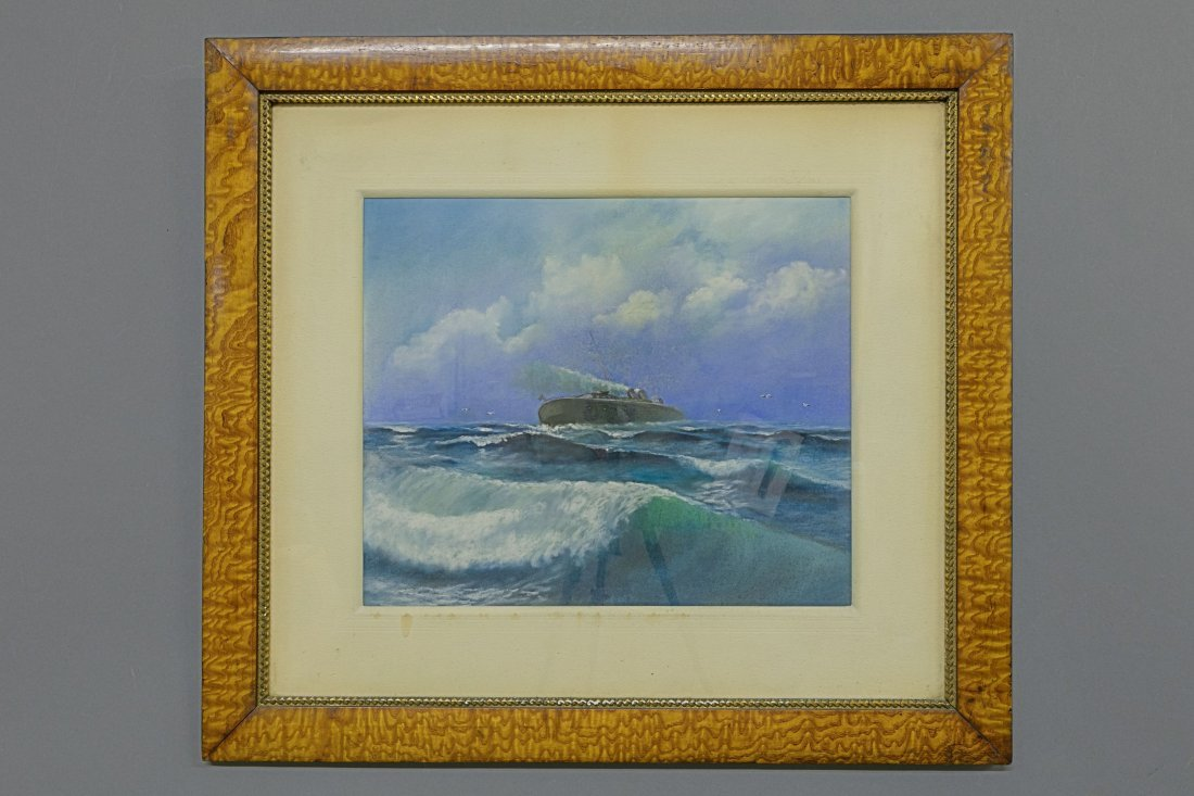 Pastel of a Steamship