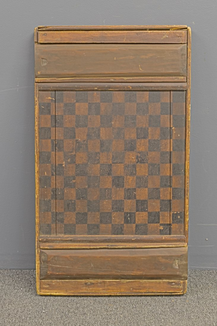 Early Paint Decorated Game Board