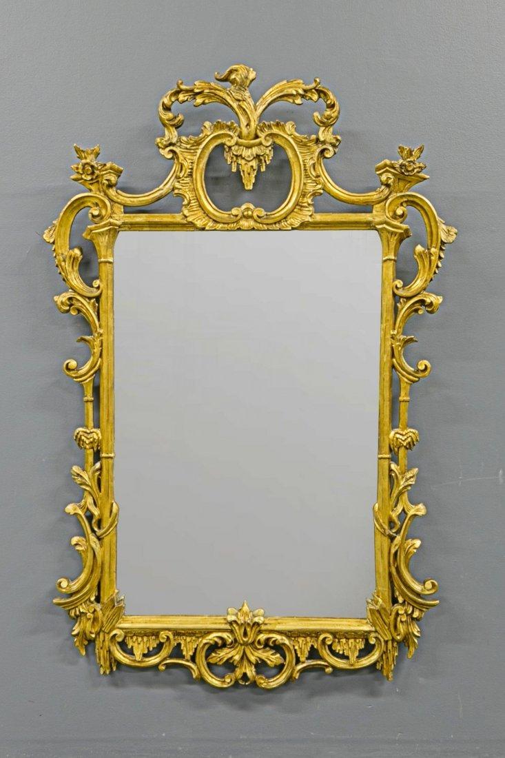 Italian Gilt Wood Mirror