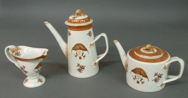 14: Reproduction Chinese porcelain tea service, three p