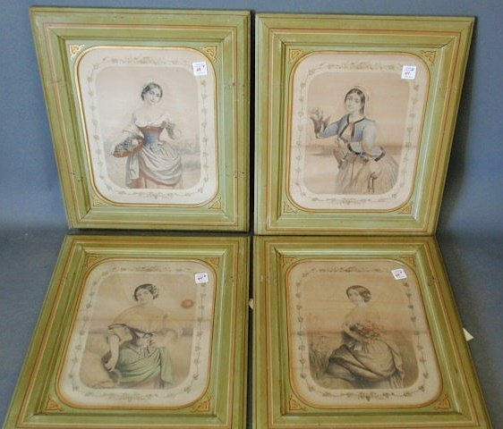 44: Four framed French prints from the Wertz House, Phi