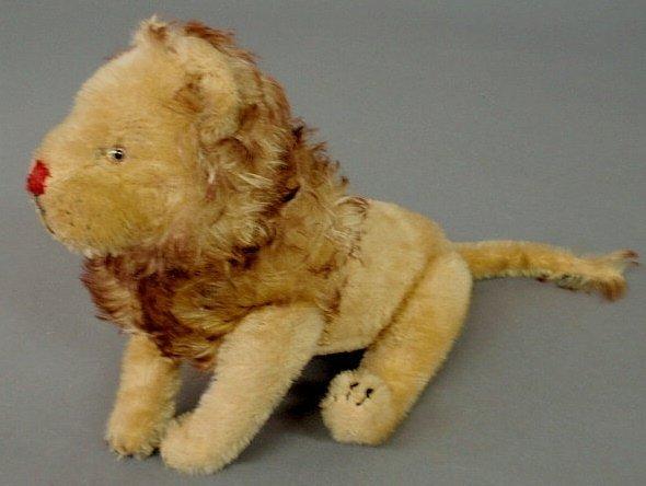 "202: Steiff mohair lion. 16""l."