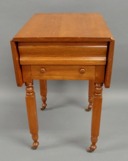 204: New York birch stand, c.1830, with two drawers and
