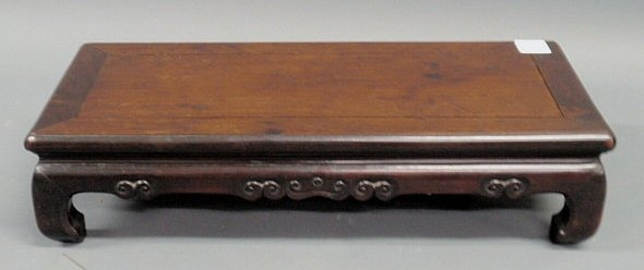 """220: Chinese rosewood scholar's table. 6""""h.x25""""l.x10.5"""""""