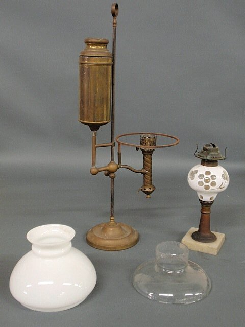 """1: Fluid lamp with white-cut-to-clear font 12""""h. and"""