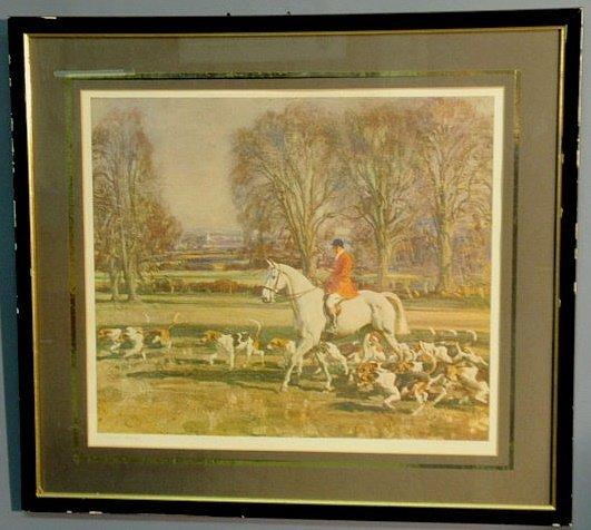 """17: Sir Alfred Munnings print """"A November Morning"""" 18"""