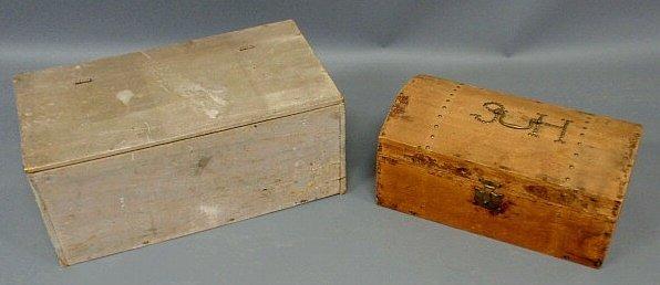 """21: Primitive box with gray paint 10""""h.x23""""w.x12""""d. a"""