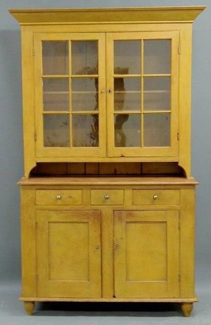 400: York County, Pennsylvania Dutch cupboard, c.1830,