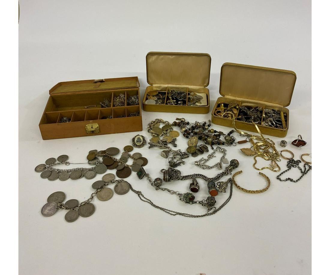 Silver Coin Bracelets etc.