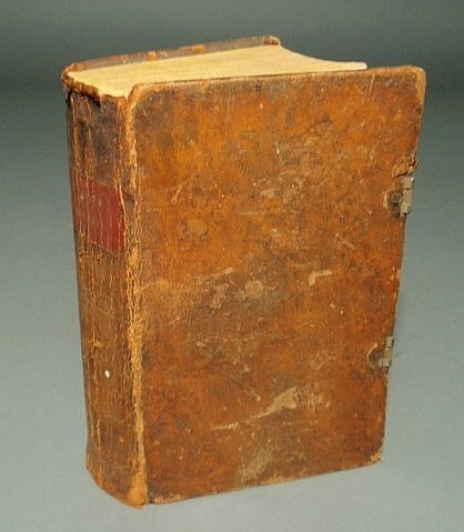 17: Pennsylvania German 1831 bible, leather-bound, by