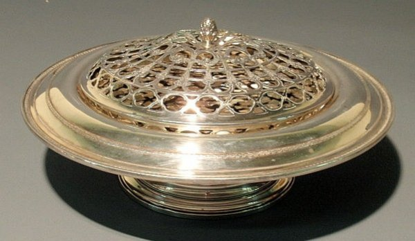 26: Sterling silver floral centerpiece bowl by Gorham