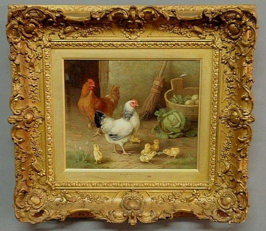 305: Hunt, Edgar [UK, 1876-1953] oil on canvas painting