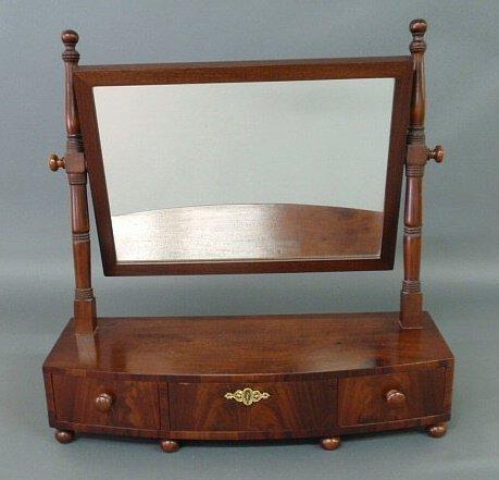 13: Sheraton mahogany bow-front shaving stand, c.1820,