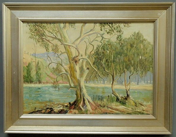 26: Oil on board landscape painting of South Australia