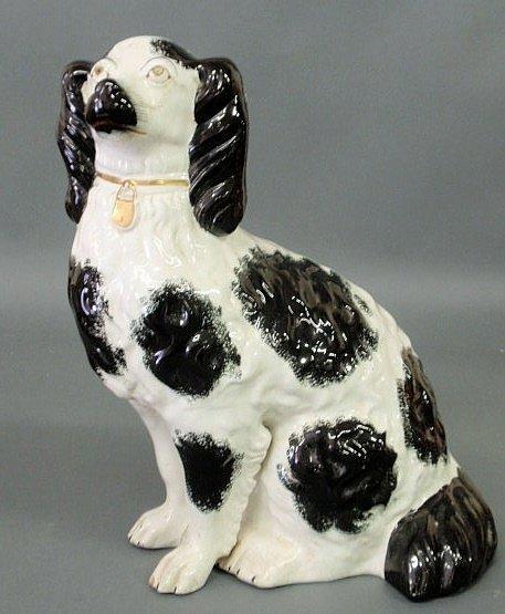 16: Large Staffordshire black and white Spaniel, c.186