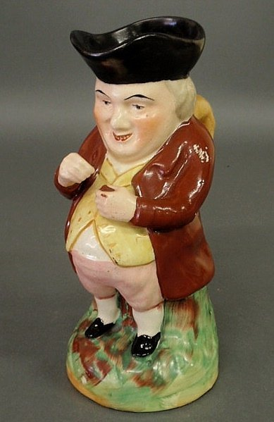 26: Staffordshire Toby mug of a gentleman in a tricorn