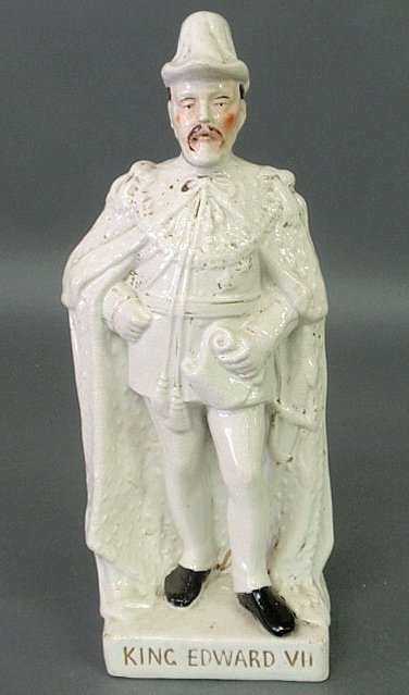 30: Staffordshire standing figure of King Edward VII.