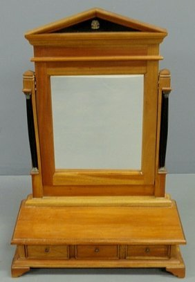 French Style Mahogany Shaving Stand, 20th C., With