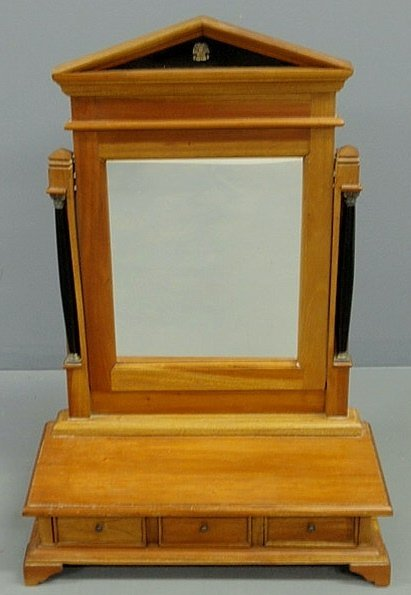 36: French style mahogany shaving stand, 20th c., with