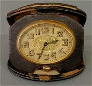 50: Swiss eight-day travel clock with a six-jewel move