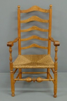 Chester County, PA Maple Five-slat Open Armchair W
