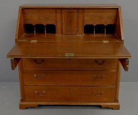 Pennsylvania Walnut Slant-front Desk, C.1790, With