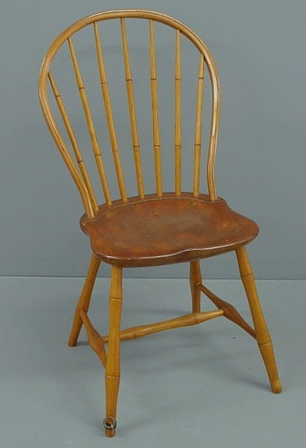 "222: Windsor bow-back side chair stamped ""J. Humeston,"