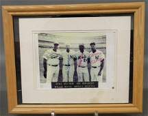 486: Baseball photo print with autographs of Duke Snyde