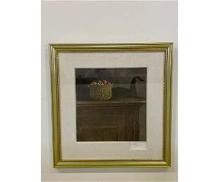 "Andrew Wyeth Hand Signed Print ""Wolf Rivers"""