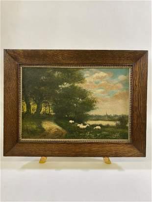 J. Davis Oil on Canvas Landscape