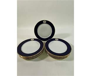 Set of twelve Meissen Service Plates
