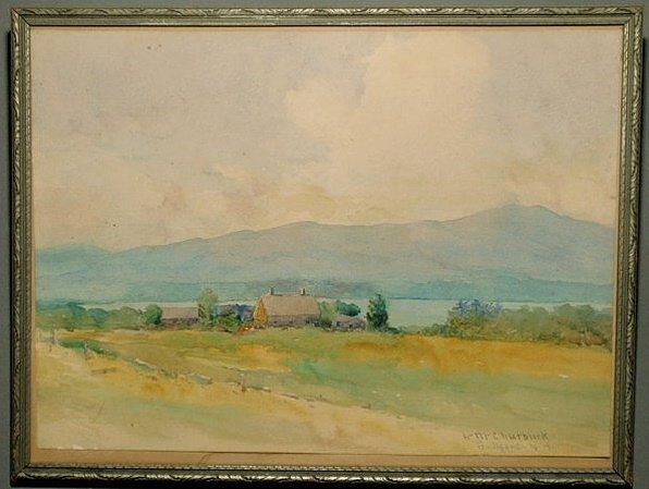 13: Churbuck, Leander M [American, 1861-1940] watercol