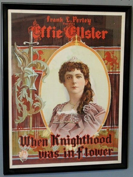 "26: Framed poster, early 20th c. litho, ""Frank Perley"