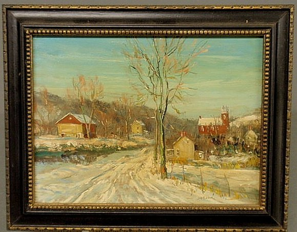 73: Baum, Walter Emerson [American, 1884-1956] oil on