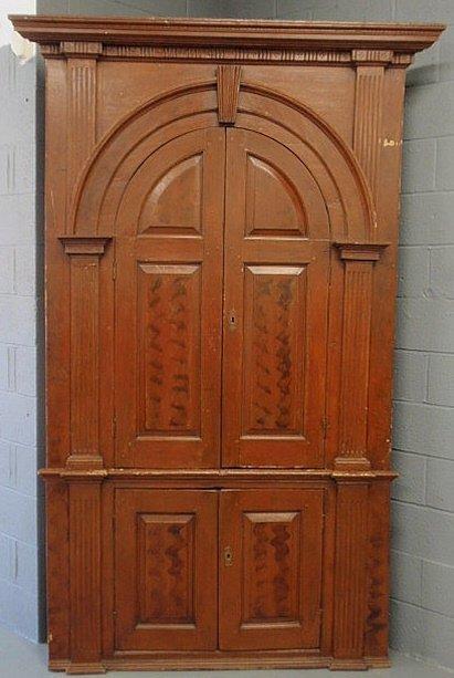 245: Pennsylvania pine architectural corner cabinet, 18