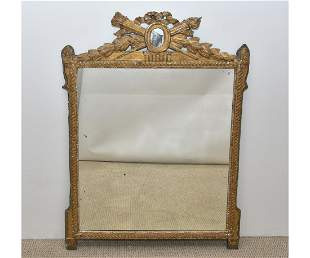 Large French Gilt Carved Mirror