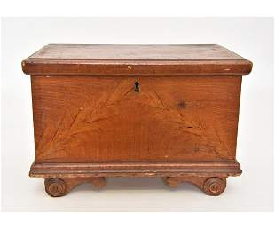 Lancaster County Flame Grain Painted Box