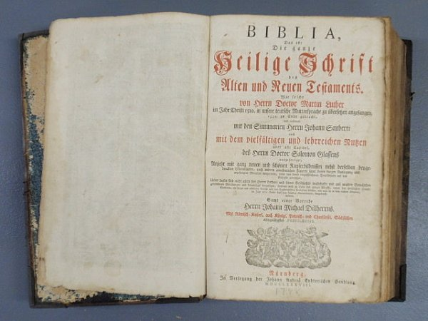 28: Large 1788 German bible, leather-bound, printed in