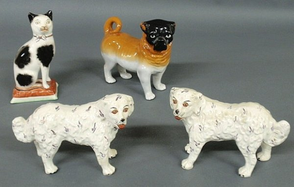29: Pair of late 19th c. Staffordshire standing dogs 5