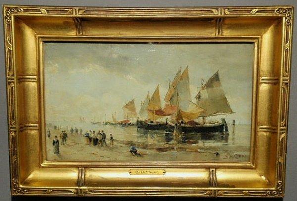 104: Crone, Samuel Hester [American, 1858-1913] oil on