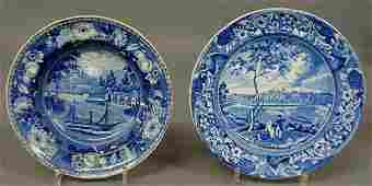 """172: Staffordshire Historical Blue plate by Stubbs """"Fai"""