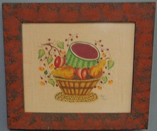 270: Colorful theorem on velvet of a basket of fruit si