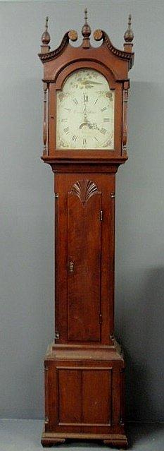 500: Rare Pennsylvania Chippendale cherry tall case clo