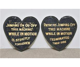Two Carousel Ride Signs