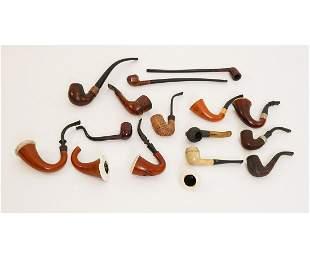 Grouping of Various Smoking Pipes
