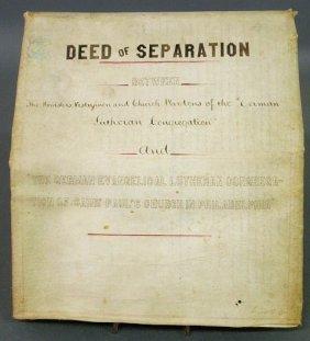 11: Lutheran 1871 Deed of Separation between the Germa