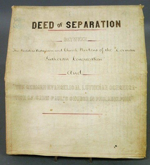 11: Lutheran 1871 Deed of Separation between the Germa