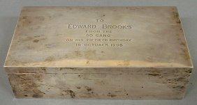 "13: Sterling silver presentation box ""To Edward Brooks"