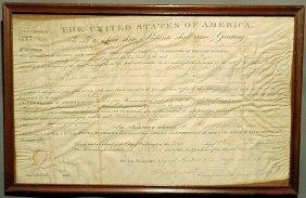 14: Parchment U.S. General Land Office certificate dat